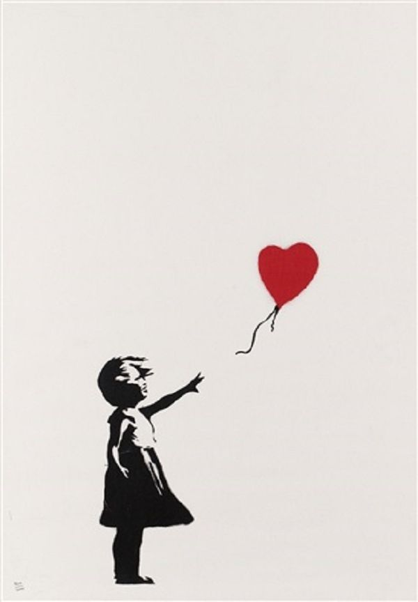Banksy (b. 1974)  Girl with Balloon, 2004