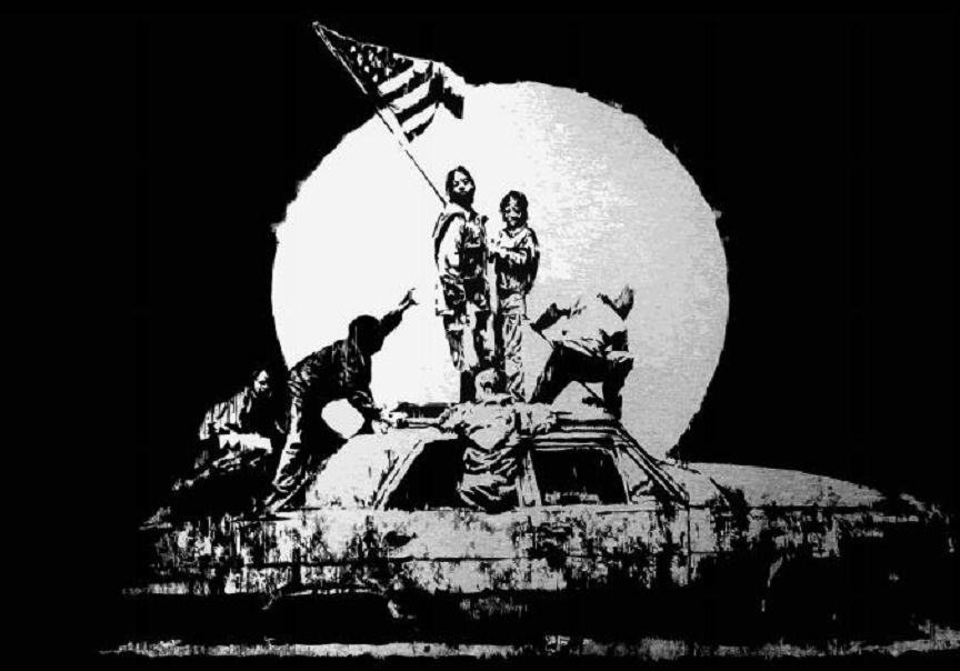 Banksy (b. 1974)  Silver Flag, 2006