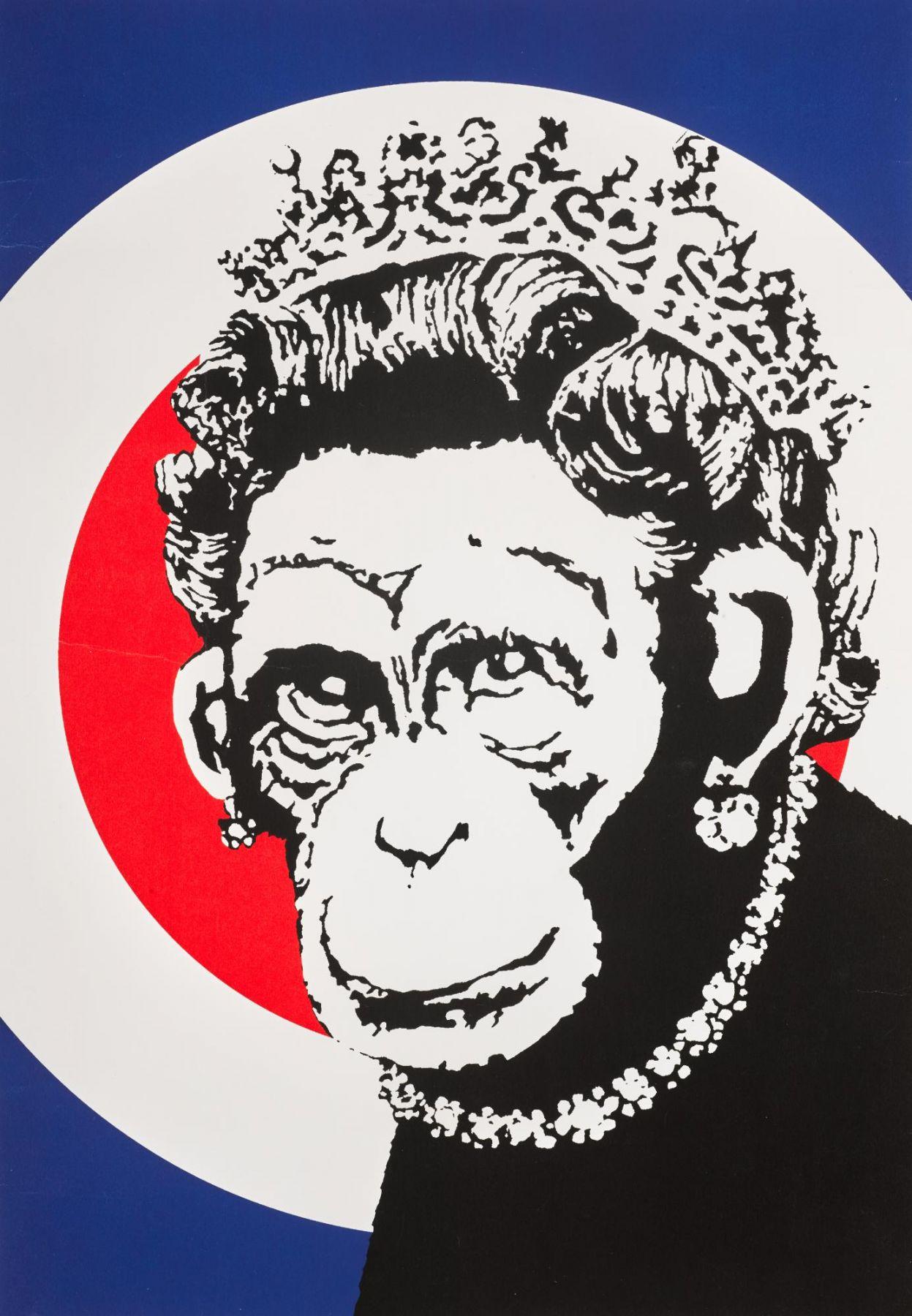 Banksy (b. 1974)  Monkey Queen, 2003