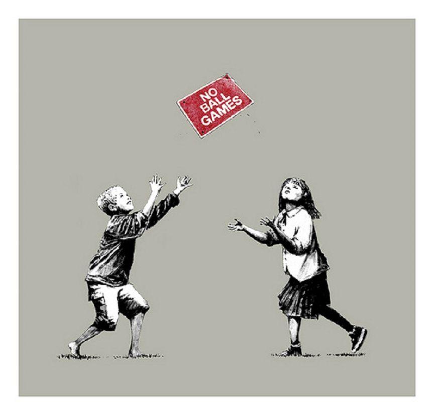 Banksy (b. 1974)  No Ball Games, 2009