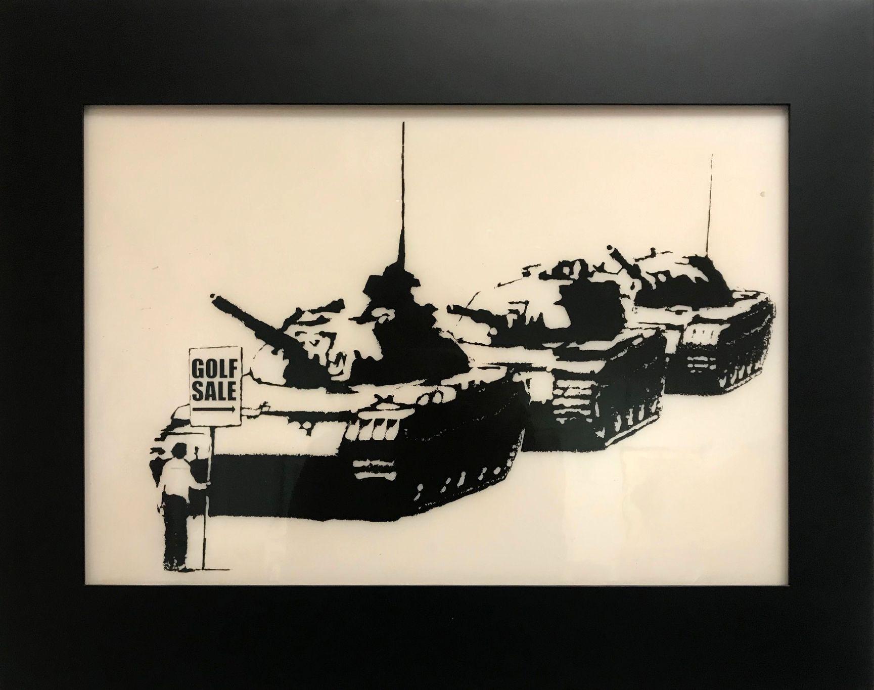 Banksy (b. 1974) Golf Sale Print Plate, 2003