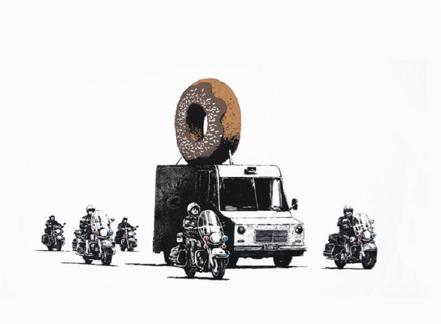 Banksy (b. 1974)  Donuts (Chocolate), 2009