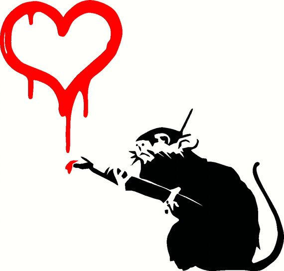 Banksy (b. 1974)  Love Rat, 2004