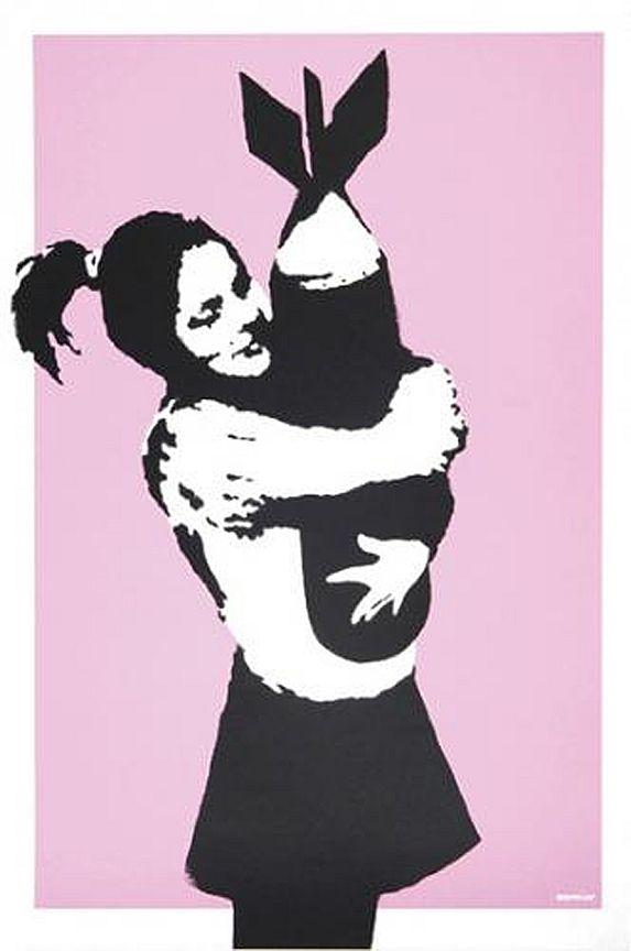 Banksy (b. 1974)  Bomb Hugger, 2003