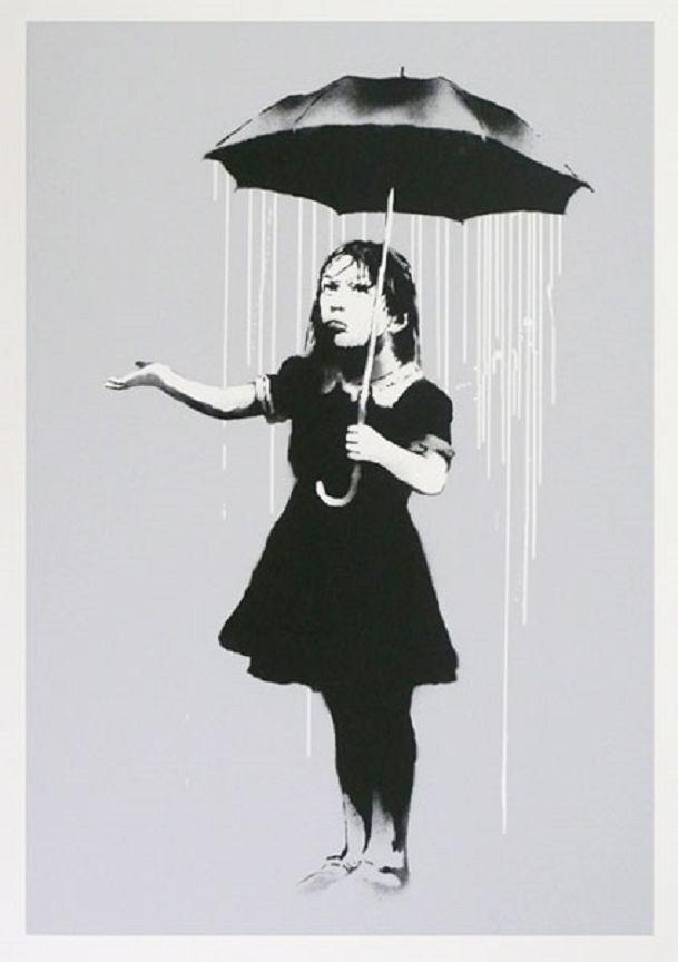 Banksy (b. 1974)  Nola (White), 2008