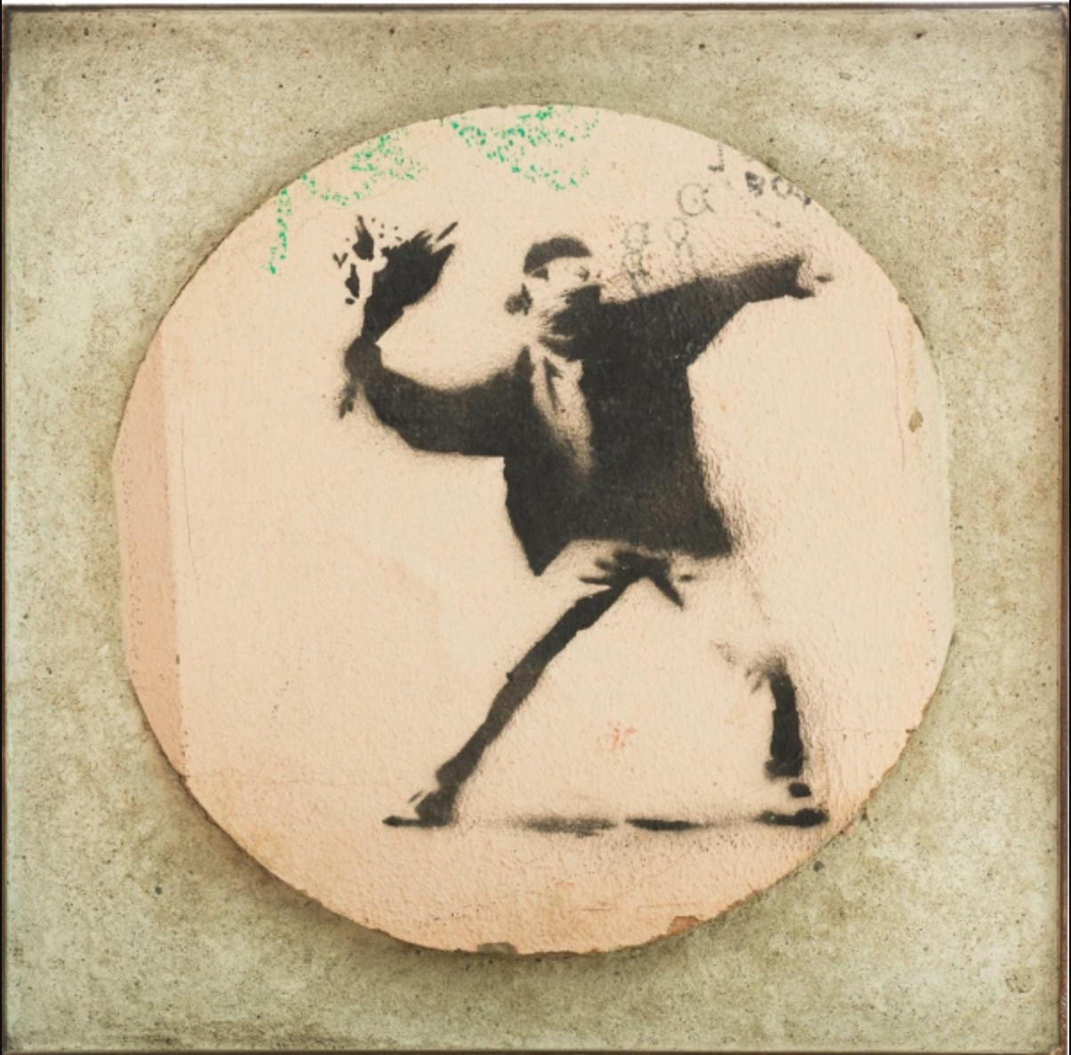 Banksy (b. 1974) Flower Thrower (Wall), c. 2008