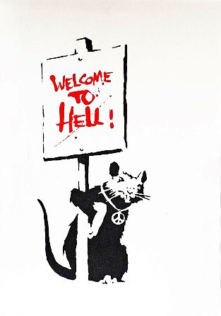 Banksy (b. 1974)  Welcome to Hell, 2004