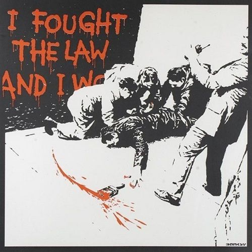 Banksy (b. 1974)  I Fought the Law, 2004