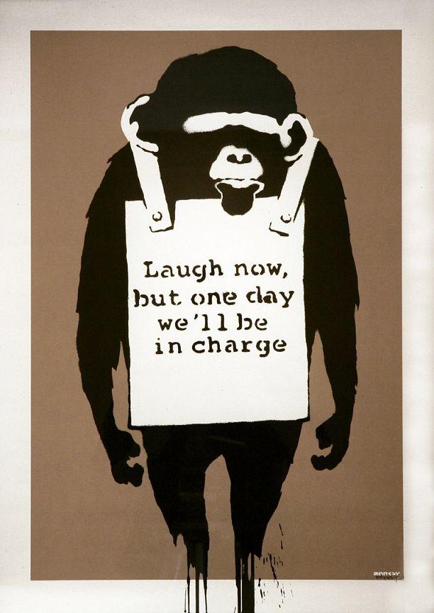 Banksy (b. 1974)  Laugh Now, 2003