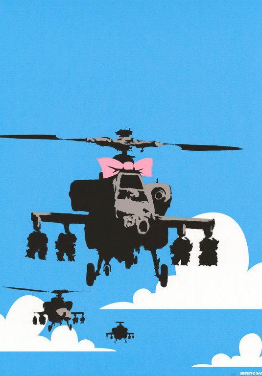 Banksy (b. 1974)  Happy Choppers, 2003