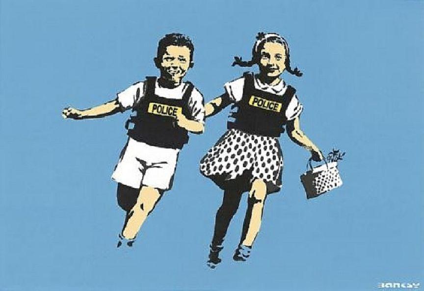 Banksy (b. 1974)  Police Kids, 2005