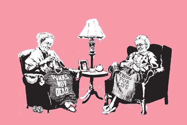 Banksy (b. 1974)  Grannies, 2006
