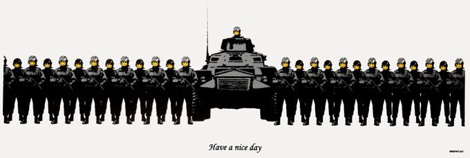 Banksy (b. 1974)  Have a Nice Day, 2004