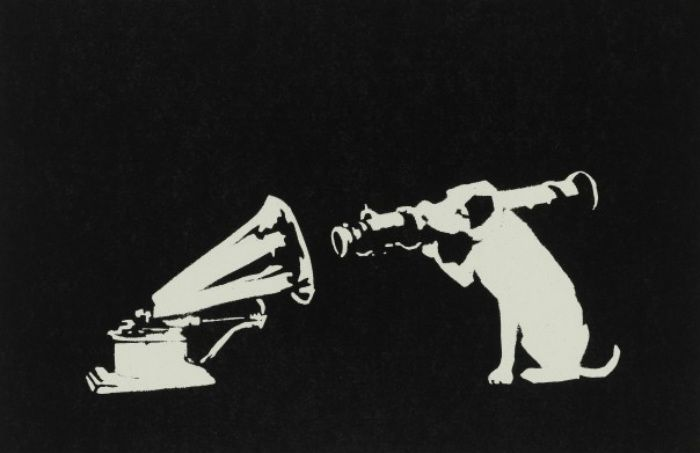 Banksy (b. 1974)  His Master's Voice, 2003