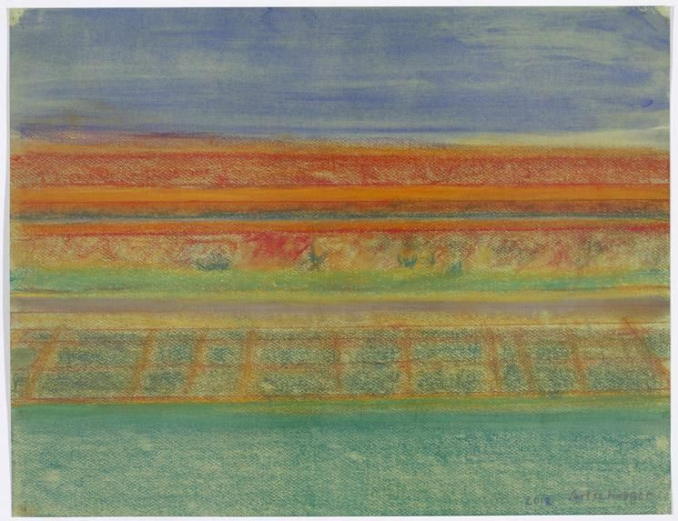 Richard Artschwager Landscape with Gridded Field
