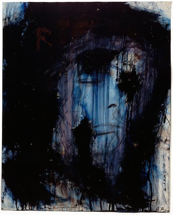 Arnulf Rainer Untitled (Blue self-portrait)