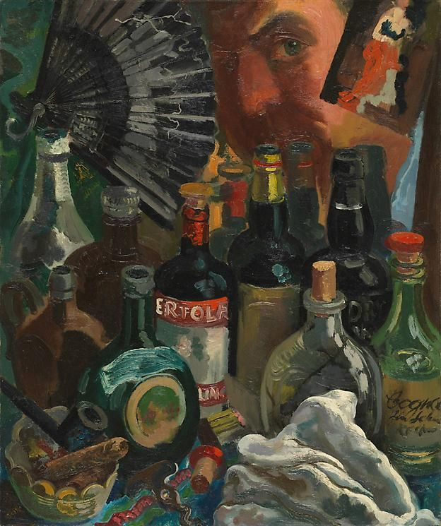 George Grosz Myself and the Barroom Mirror