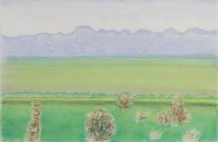 Richard Artschwager Landscape with Blue Mountains