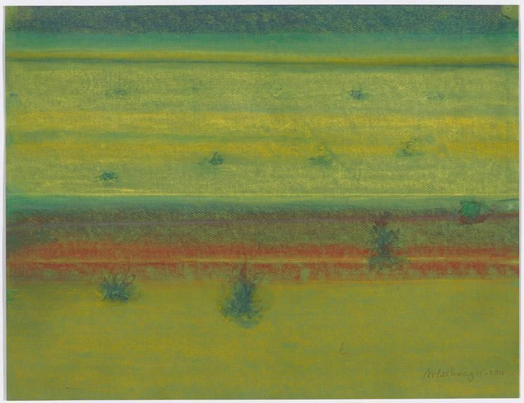 Richard Artschwager Landscape with Bushes