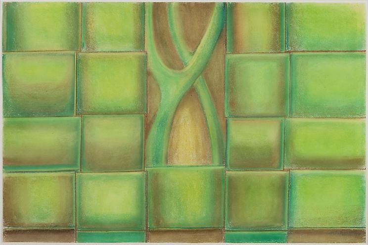 Richard Artschwager Green Weave
