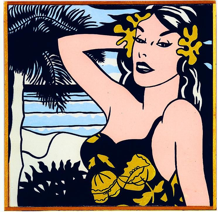 "Richard Pettibone Roy Lichtenstein ""Aloha. 1962."""