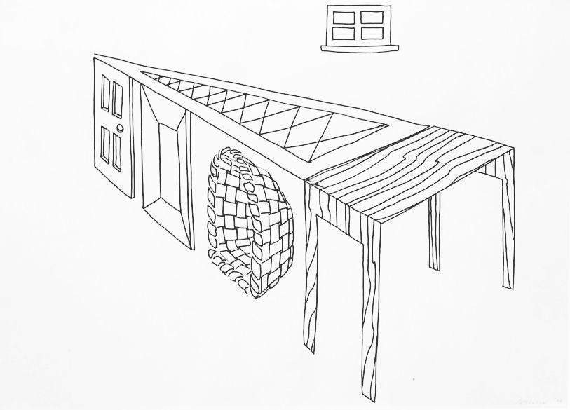 Richard Artschwager, Door, Window, Table, Basket, Mirror, Rug