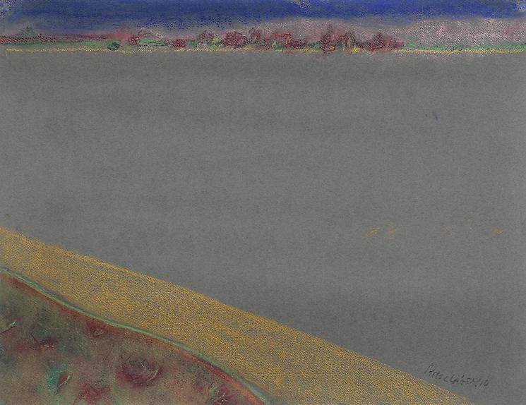 Richard Artschwager Landscape on Gray Paper