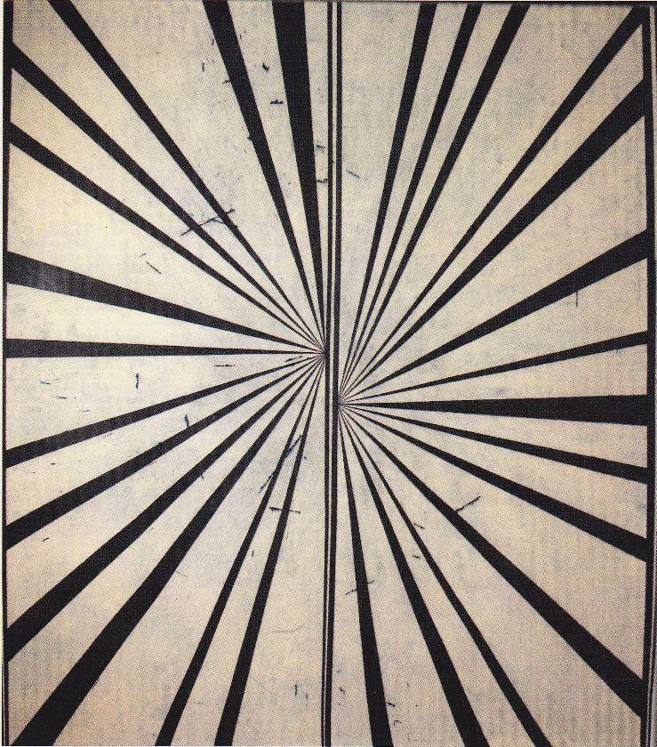Mark Grotjahn, Dark Blue III, 2006, Oil, on, linen
