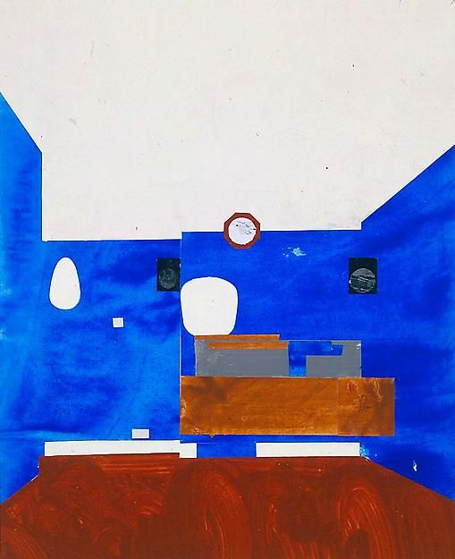 , Peter's Cobalt Blue Collage, 2007