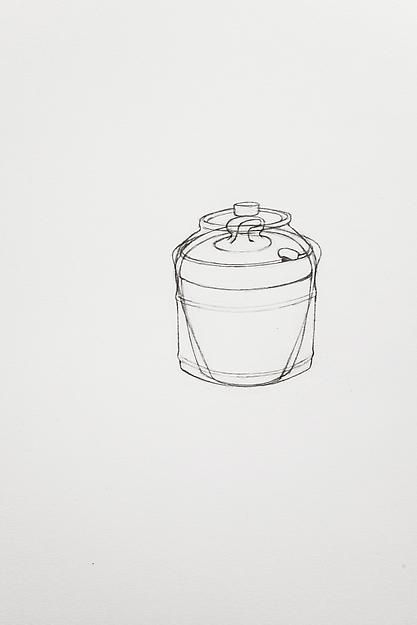 A Drawing of Three Small Lidded Things, 2013,