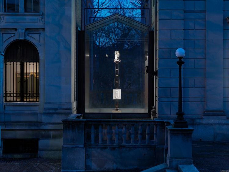 "ALT=""Donald Moffett, Installation view, 2013, American Academy of Arts and Letters"""