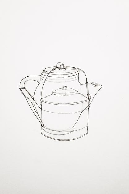 A Drawing of Two Teapots, 2013,