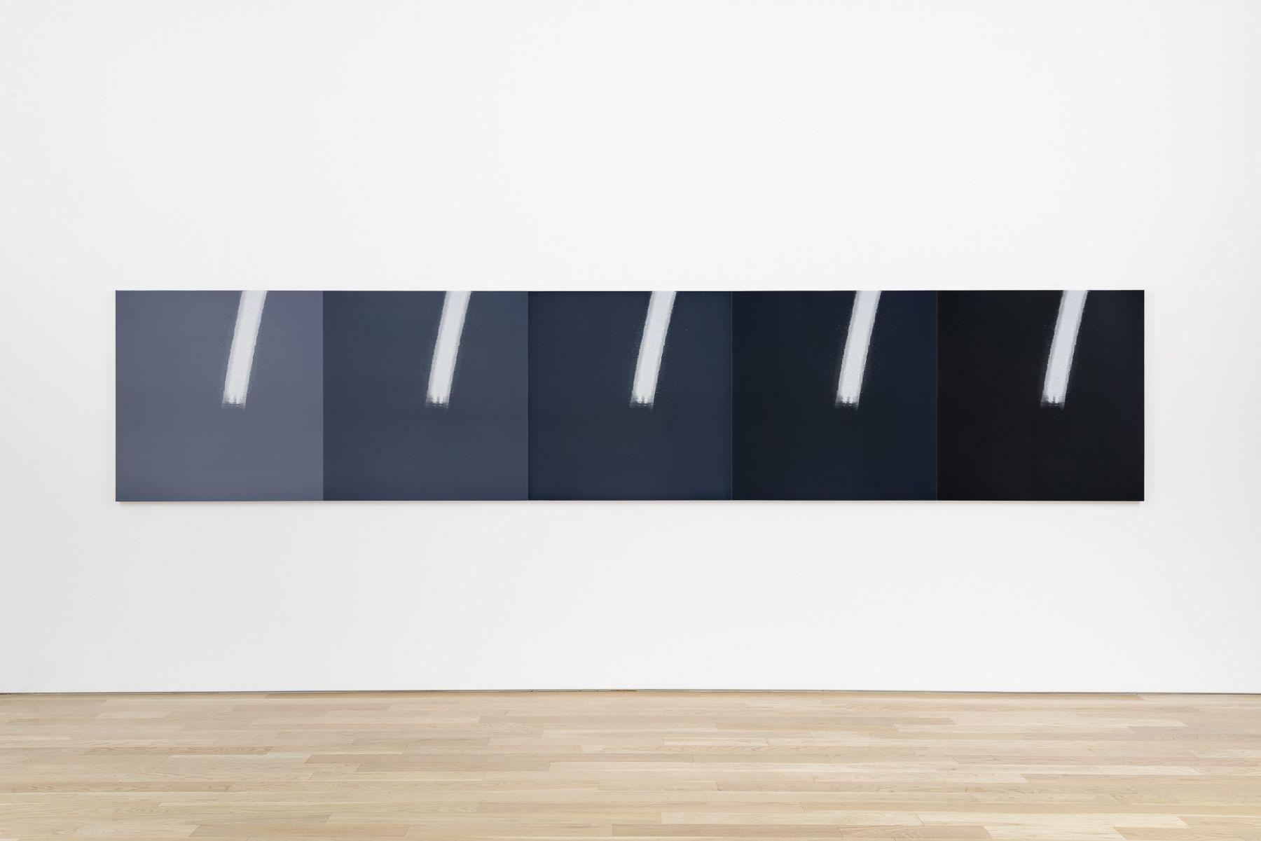 Kate Shepherd, Kodak, Bolts, Giraffe Horns, 2018, Screen printed enamel and enamel on panel