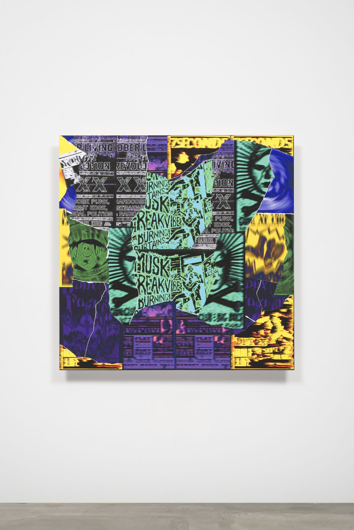 Gary Simmons Burning Curtains, 2016