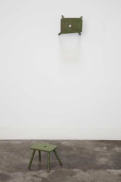 Used / Use (A Small Apple Green Stool), 2013,