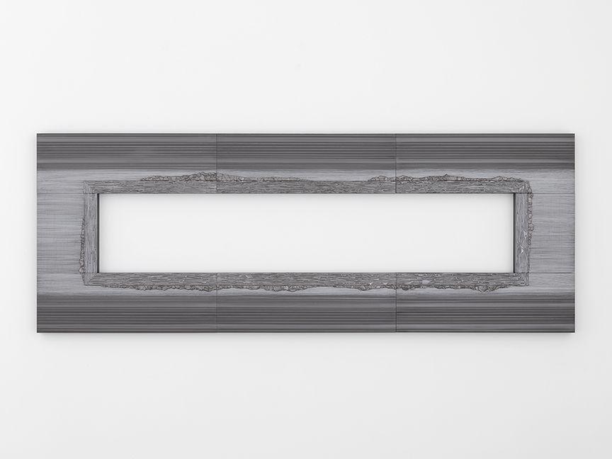 "ALT=""Teresita Fernandez, Nocturnal (Mirage), 2017, Solid graphite on wood panel"""