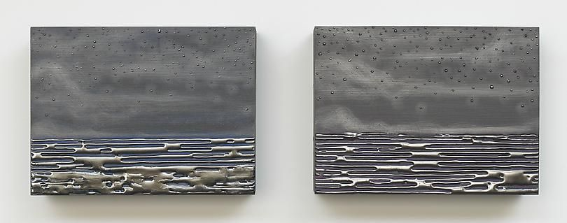 "ALT=""Teresita Fernández, Nocturnal (Day One, Day Two), 2013, Graphite on wood panel"""