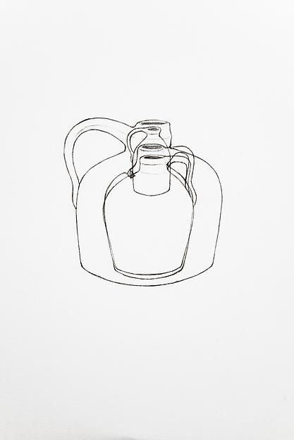 A Drawing of Four Jugs That Sat on My Desk a Long Time, 2013,
