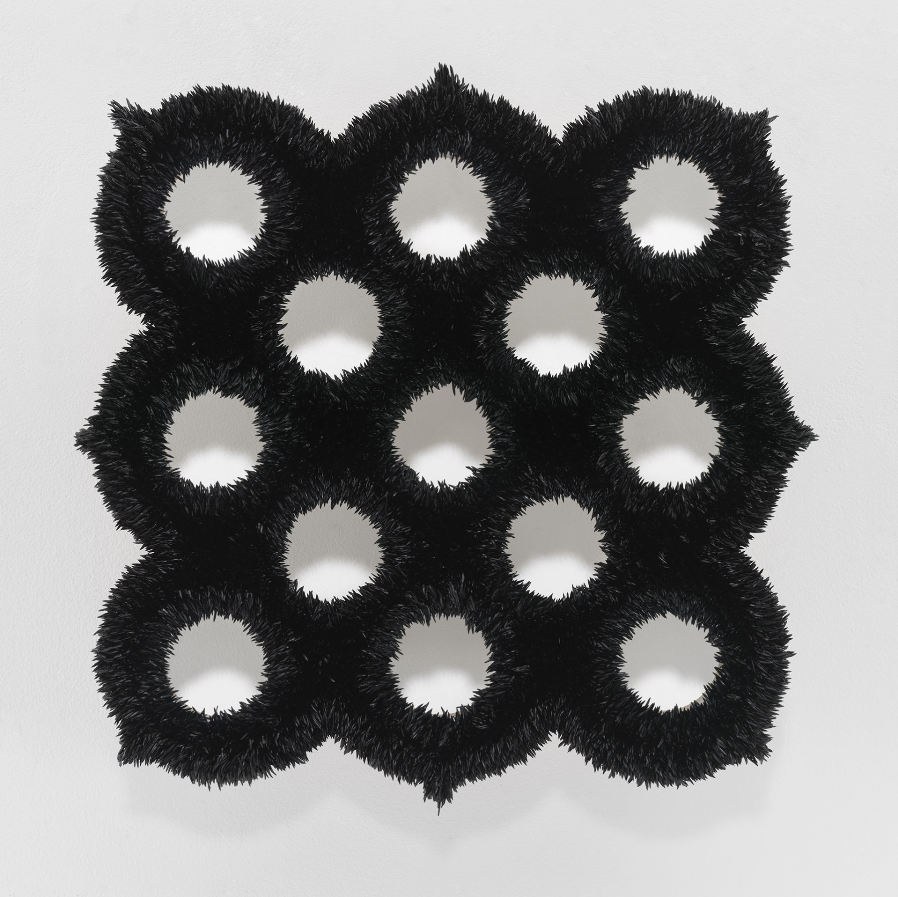 Donald Moffett, Lot 052015 (exo-spore 5, ivory black), 2015