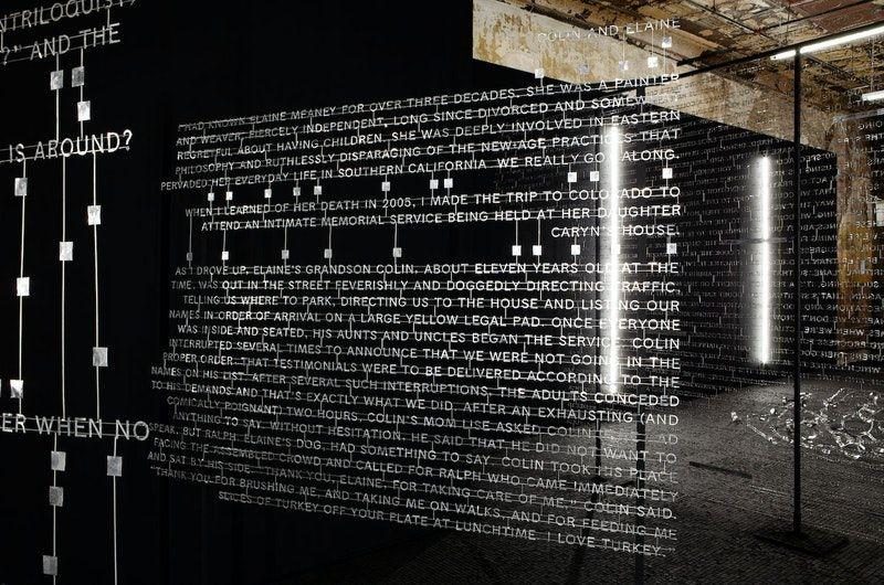 Art installation of metal type