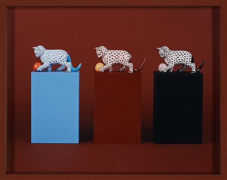 Elad Lassry Cats, Balls (Herend), 2010