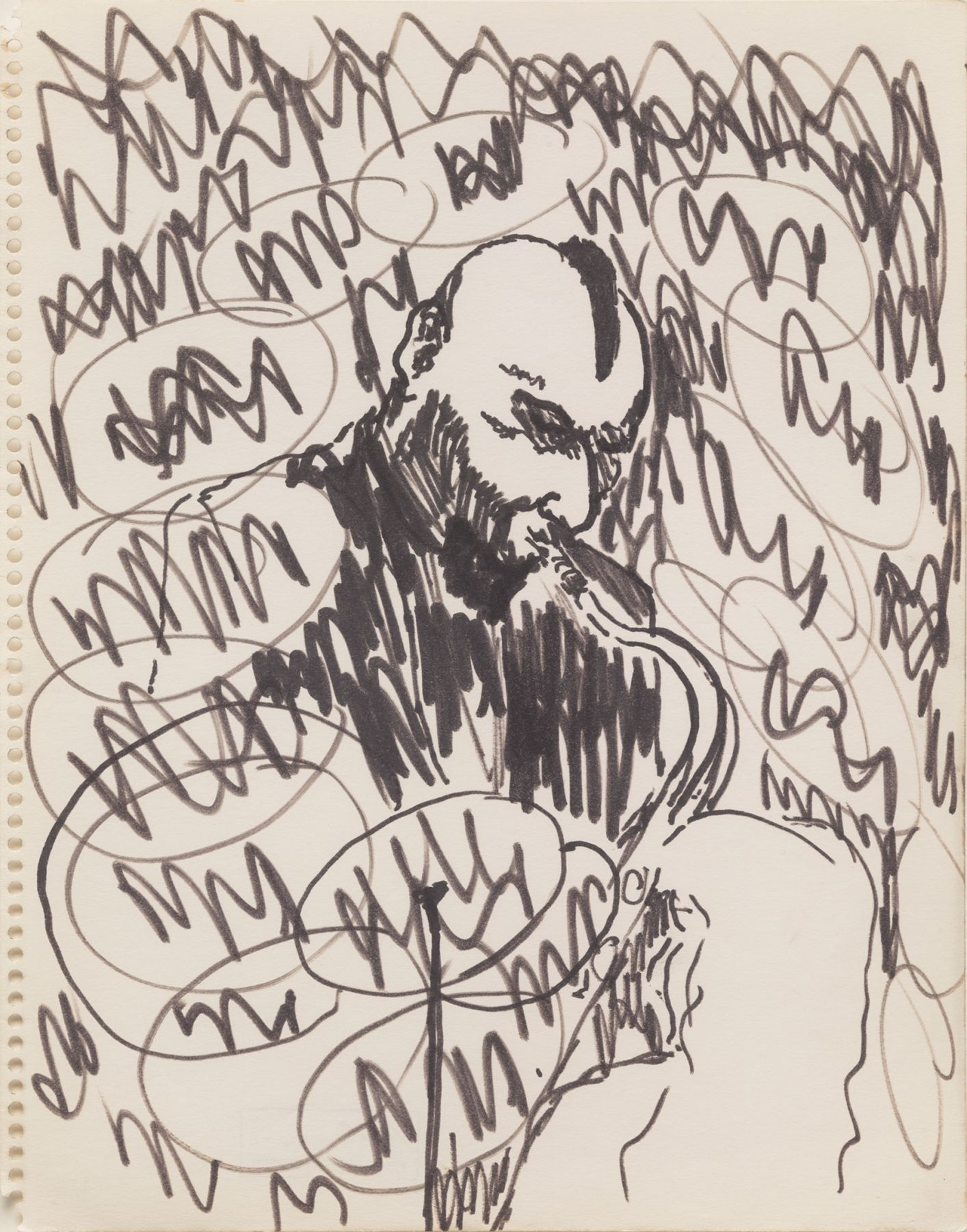 Bob Thompson, Untitled (Sonny Rollins at the Five Spot), c.1964-65
