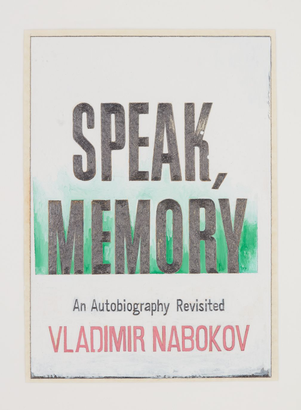 Steve Wolfe, Untitled (Study ForSpeak, Memory),1986