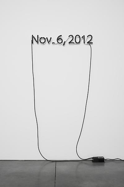 Glenn Ligon, One Black Day, 2012