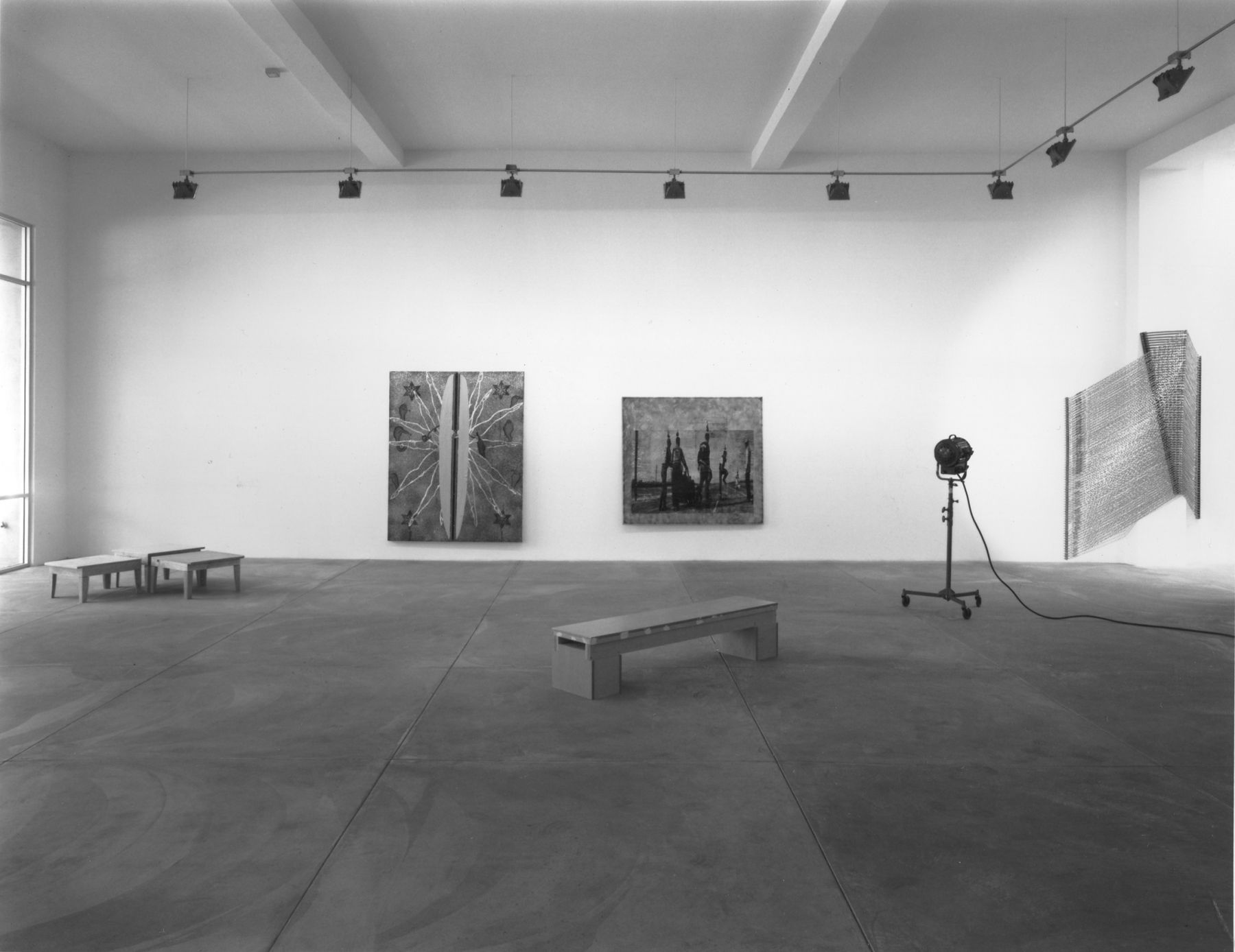 Tom Henry III, Liz Larner, Jorge Pardo, Linda Roush, Sarah Seager, and Thaddeus Strode, Installation view