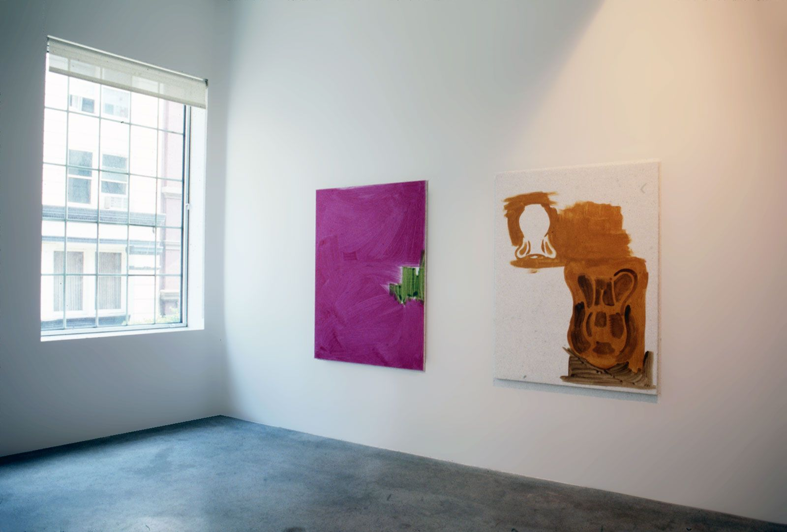 Michael Krebber, Installation view