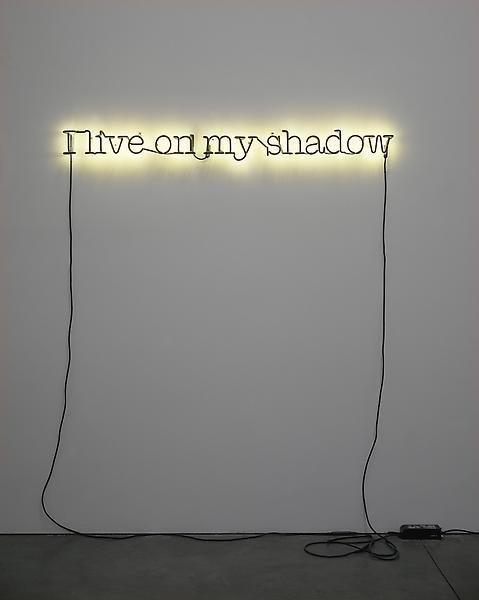 Glenn Ligon, Untitled (I live on my shadow), 2009