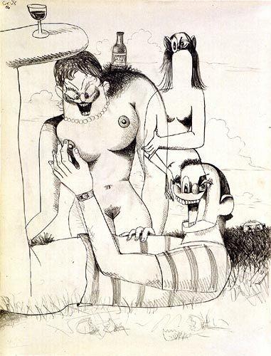 George Condo, Outdoor Figure Composition,2006