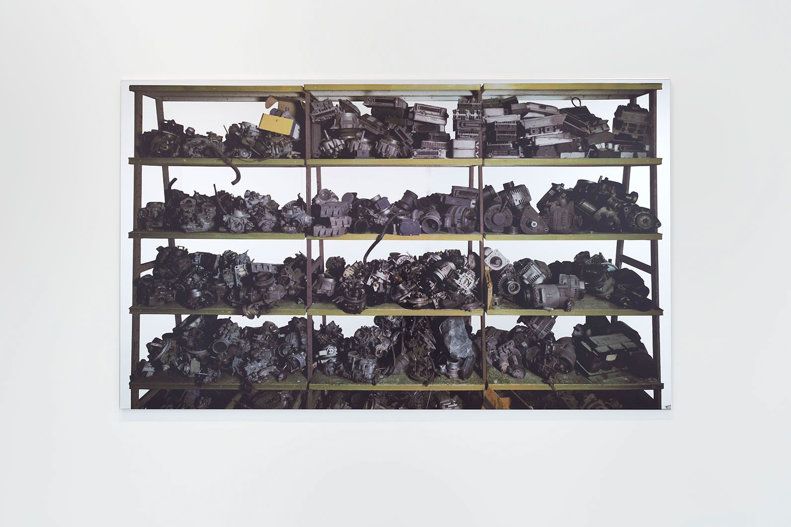 Michelangelo Pistoletto Scaffali – pezzi meccanici, 2015