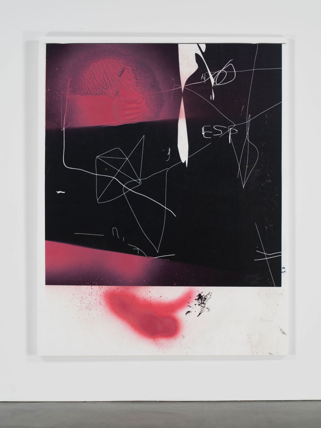 Jeff Elrod, Polaroid Painting, 2016